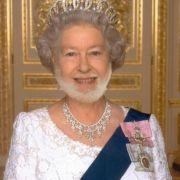 Und wenn Herzogin Kate einen Bart bekommt, darf natürlich auch die Queen nicht fehlen.