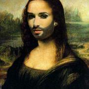 Und auch da Vincis Mona Lisa wurde kurzerhand zur Mona Conchita.