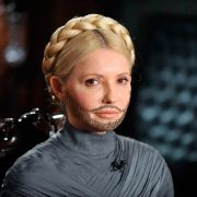 Nicht ganz so gut gemacht, aber trotzdem lustig: Julija Tymoschenko mit Bart.
