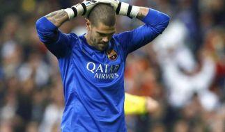 Torwart Valdés verabschiedet sich von Barça (Foto)