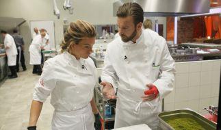 In der zweiten Folge von «Hell's Kitchen» bei Sat.1 geraten Katharina Kuhlmann und Niels Ruf extrem aneinander. Wie wird die Eskalation enden? (Foto)