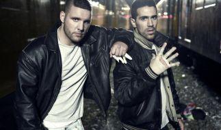 Rapper Fler (links) will juristisch gegen die NPD-Werbung vorgehen. (Foto)