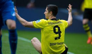 Dortmunder Lewandowski bricht offenbar Training ab (Foto)