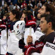 Überraschung bei Eishockey-WM: Lettland schlägt USA 6:5 (Foto)