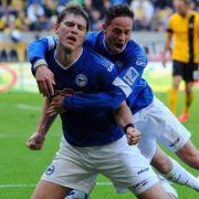 Bielefeld musste in der Relegation zur 2. Bundesliga zunächst in Darmstadt ran.