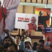 Indiens Premierminister gratuliert Modi zum Wahlsieg (Foto)