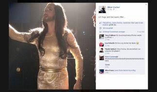 Oliver Pocher macht bei Facebook auf Conchita Wurst. (Foto)