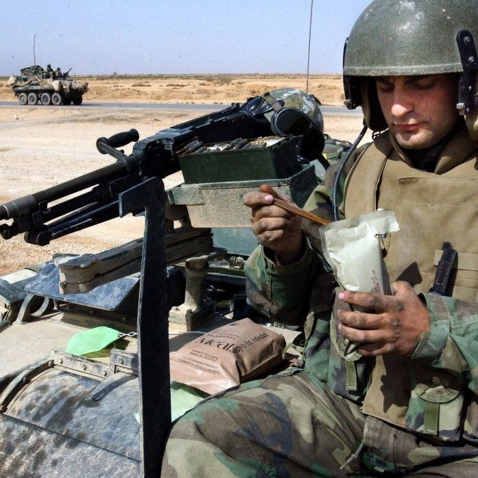 Was Soldaten im Kampf zu futtern kriegen (Foto)