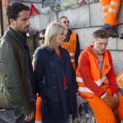 Stedefreund (Oliver Mommsen) und Lürsen (Sabine Postel) beißen bei den Müllwerkern auf Granit.