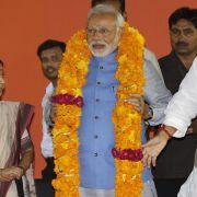 Indien: Triumphaler Empfang für Wahlsieger Modi (Foto)