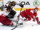 Eishockey-WM 2014: Wie hier Benedikt Kohl (Mitte) wurde das DEB-Team trotz der Führung zu Fall gebracht. (Foto)