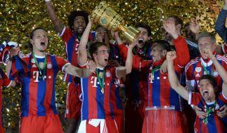 Die Bayern feierten mit dem DFB-Pokalsieg 2014 ihr zehntes Double. (Foto)