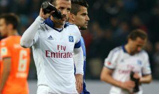 Relegation 2014: HSV vs. Fürth im Live-Stream - Kapitän Rafael van der Vaart und ganz Hamburg hoffen noch auf den Klassenerhalt. (Foto)