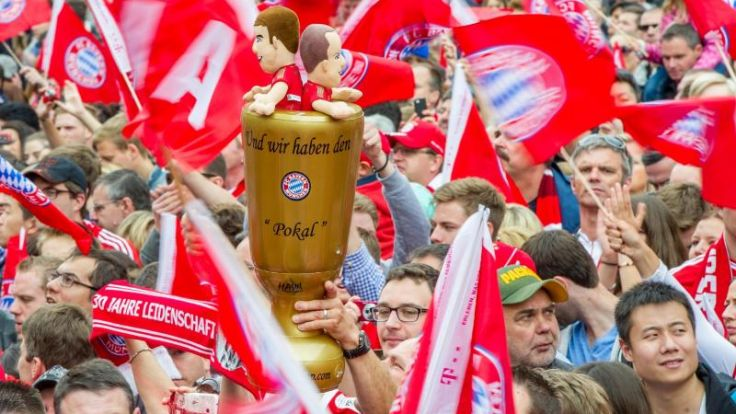 15 000 Fans feiern ihre Pokalsieger in München (Foto)