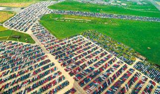 Nagelneue Wagen: Solche Auto-Friedhöfe gibt es rund um den Globus. (Foto)