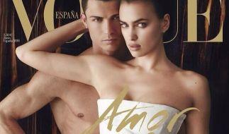 Liebe und Fußball: Starfotograf Mario Testino fotografierte Cristiano Ronaldo und seine Freundin Irina Shayk für die Juni-Ausgabe der spanischen «Vogue». (Foto)