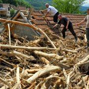 Hochwasser auf dem Balkan geht zurück (Foto)