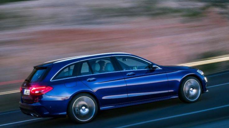 Mercedes C-Klasse:Neue Kombi wird größer und sparsamer (Foto)