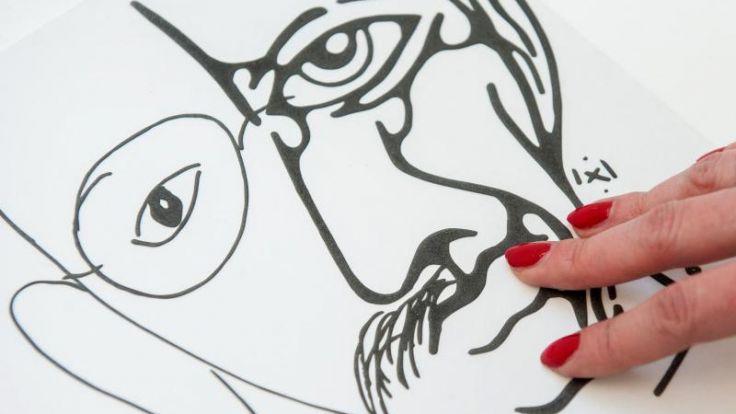 Merkel unterstützt autistische Künstlerin (Foto)