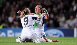 Wolfsburgs Frauen wollen den Triumph aus dem Vorjahr wiederholen. (Foto)