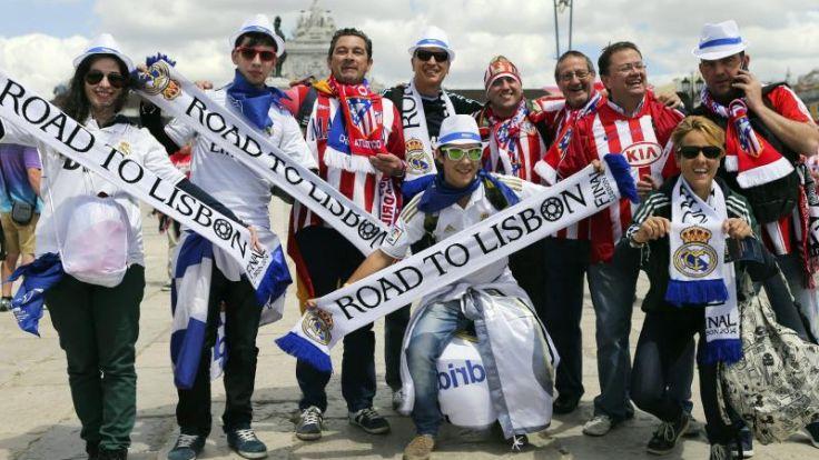 Madrid-Fans feiern friedlich in Lissabon (Foto)