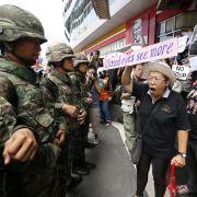 Thailands Militär verordnet Politikern «Zeit zum Nachdenken» (Foto)