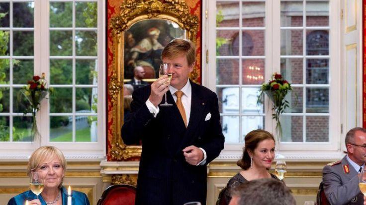 «Lekker eten» und «lekker praten» mit dem König (Foto)
