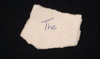 Das handgeschriebene Wort «the» ging auf Ebay für mindestens 40.000 Dollar an einen neuen Besitzer. (Foto)