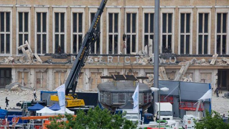 Dreharbeiten zu «Tribute von Panem» am Flughafen Tempelhof (Foto)