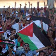 Palästinenser jubeln über 1:0-Sieg gegen Philippinen (Foto)