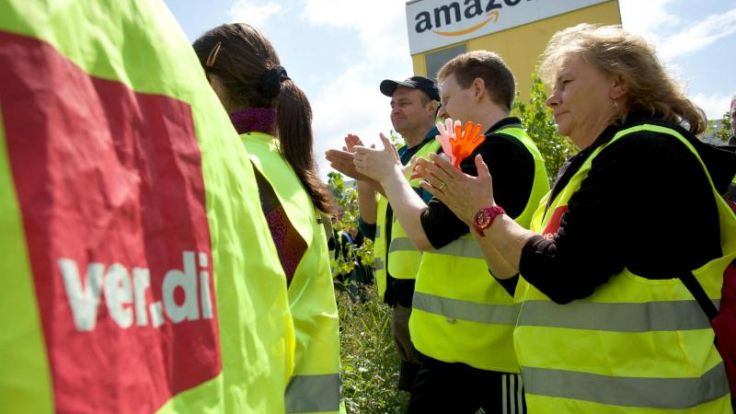 Amazon-Beschäftigte erneut im Ausstand (Foto)