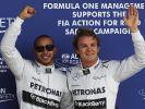 Burgfrieden - Hamilton und Rosberg «weiterhin Freunde» (Foto)