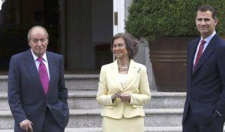Spaniens König dankt ab. (Foto)