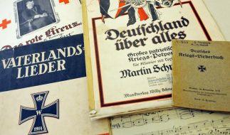 Weimarer Schau zu Kriegsliedern 1914 (Foto)