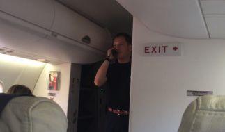 Die Gäste fanden Bernd Löwisch lustig, Brötchengeber Air Berlin nicht. (Foto)