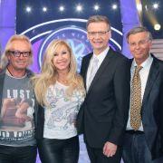 Prominenten-Special mit Christoph Daum, Robert und Carmen Geiss, Moderator Günther Jauch, Wolfgang Bosbach und Waldemar Hartmann.