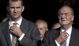 Kronprinz Felipe wird seinem Vater Juan Carlos auf den spanischen Thron folgen. (Foto)