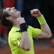 Murray und Monfils im French-Open-Viertelfinale (Foto)
