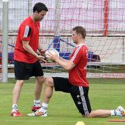 Lahm, Neuer und Schweinsteiger trainieren in München (Foto)