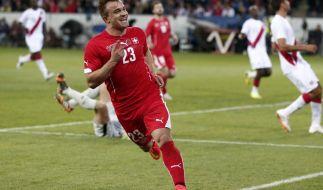 Mühevolle Schweizer WM-Generalprobe: 2:0 gegen Peru (Foto)