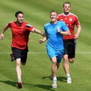 Neuer, Lahm und Schweinsteiger arbeiten an WM-Form (Foto)
