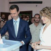 G7-Politiker:Keine Zukunft für Assad nach «Scheinwahl» (Foto)