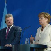Merkel verspricht Poroschenko deutsche Unterstützung (Foto)