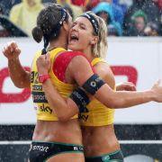 Drei deutsche Beach-Damen-Duos im Achtelfinale (Foto)