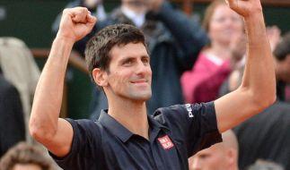 Novak Djokovic will bei den French Open ins Finale einziehen. (Foto)