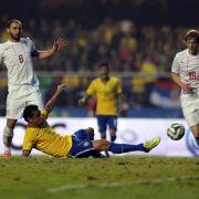 1:0 gegen Serbien: Nur Fred trifft für Brasilien (Foto)