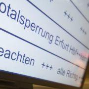 Erfurter Bahnhof dicht: Ost-West-Züge müssen Umweg fahren (Foto)