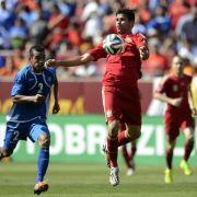 Spanien siegt 2:0 - Diego Costas Oberschenkel hält (Foto)