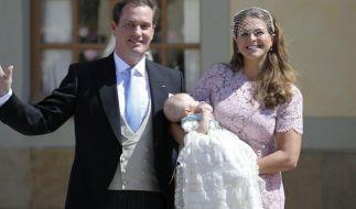 Prinzessin Madeleine und Christopher O'Neill reisten zum ersten Mal mit ihrer Tochter Leonore nach Schweden: Grund: Die kleine Prinzessin wurde getauft. (Foto)