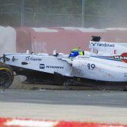 Massa und Perez nach Formel-1-Crash wohlauf (Foto)